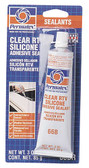 Permatex 80050 #66 Clear Silicone Adhesive - Each