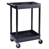 "Luxor TC11 Cart Serv Plas 2Tub 24""D X 32""W"