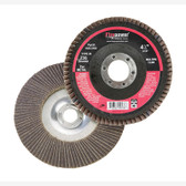 "Firepower 1423-3162 Flap Disc Wheel, 4-1/2"" Diameter, 7/8"" Hubless Arbor, 36 Grit, Zirconia, 13,300 RPM"