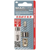 Maglite LMXA601 White Star Krypton Bulb, 6 Cell C and D