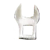 """V8 Tools 74015 Crowfoot Wrench, 3/8"""" Drive, 15Mm, Thin Jaws, Fully Polished"""