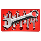 V8 Tools 8910 Stubby Combination Wrench Set, 10 Piece, 10Mm To 19Mm, Fully Polished, In Plastic Tray