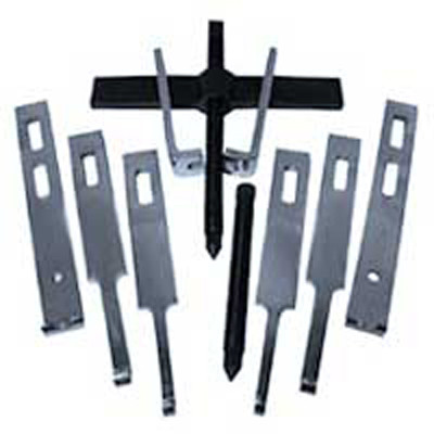 V8 Tools 4210 Straight Bar Puller Set, 10 Ton Capacity, Four Sets Of Jaws, 2 Forcing Screws, 2 Way Crossarm