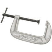"Wilton 41408 C-Clamp, 0 To 6"" Opening, 3-1/4"" Throat Depth, Ductile Iron Frame With Black Oxide Screw"