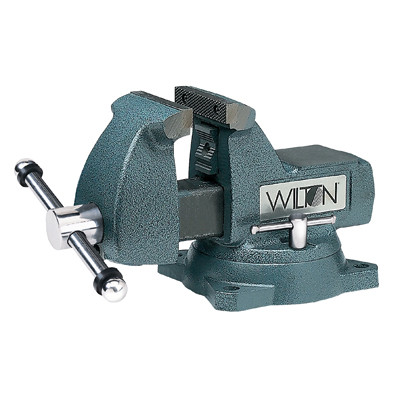 "Wilton 21300 Mechanics Bench Vise, 744, 4"" Jaw Width, 4-1/2"" Jaw Opening, Swivel Base, Pipe Jaws"