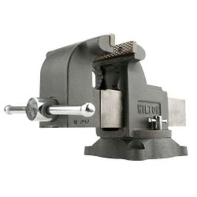 "Wilton 63302 Shop Bench Vise, Ws6, 6"" Jaw Width, 6"" Jaw Opening, Swivel Base, Pipe Jaws"
