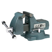 "Wilton 21500 Mechanics Bench Vise, 746, 6"" Jaw Width, 5-3/4"" Jaw Opening, Swivel Base, Pipe Jaws"