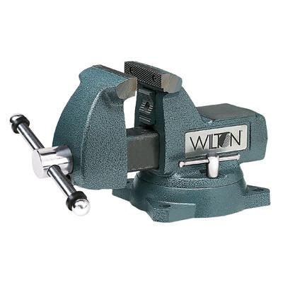 "Wilton 21500 Mechanics Bench Vise, 746, 6"" Jaw Width, 5-3/4"" Jaw Opening, Swivel Base, Pipe Jaws"