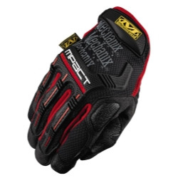 Mechanix Wear MPT-52-009 Medium Mpact Glove With Poron Xrd, Black/Red