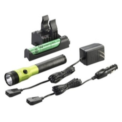 Streamlight 75478 Stinger LED HL Rechargeable Flashlight - 120/DC, PiggyBack Holder - Lime