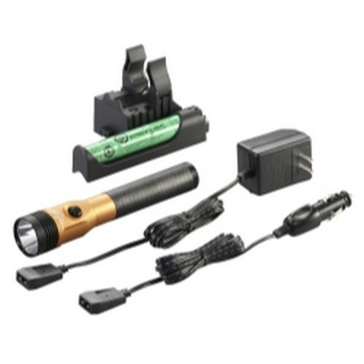 Streamlight 75480 Stinger LED HL Rechargeable Flashlight - 120/DC, PiggyBack Holder - Orange