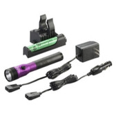 Streamlight 75482 Stinger LED HL Rechargeable Flashlight - 120/DC, PiggyBack Holder - Purple