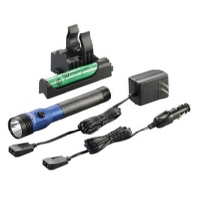 Streamlight 75486 Stinger DS LED HL Rechargeable Flashlight - 120/DC PiggyBack Holder - Blue