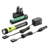Streamlight 75488 Stinger DS LED HL Rechargeable Flashlight - 120/DC PiggyBack Holder - Lime