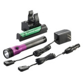 Streamlight 75492 Stinger DS LED HL Rechargeable Flashlight - 120/DC PiggyBack Holder - Purple