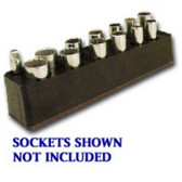 Mechanics Time Saver 776 3/8in. Drive Deep 13 Hole Socket Holder