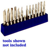 Mechanics Time Saver 580 1/4 in. Magnetic Neon Blue 37 Piece Bit Holder