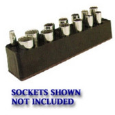 Mechanics Time Saver 783 3/8 in. Drive Deep Black Socket Holder  5.5-22mm