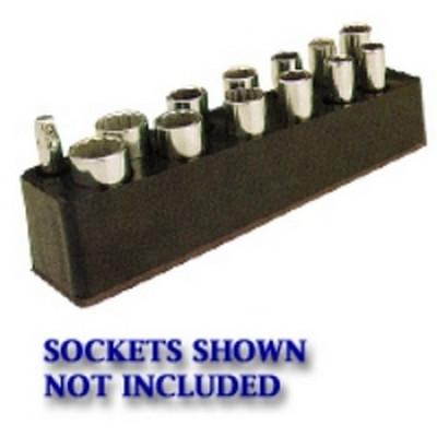Mechanics Time Saver 783 3/8 in. Drive Deep Black Socket Holder  5.5-22mm