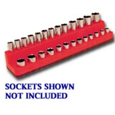 Mechanics Time Saver 727 1/4in. Drive Deep Rocket Red Socket Holder  4-14mm