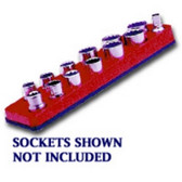 Mechanics Time Saver 714 3/8 in. Drive Magnetic Red Socket Holder   5.5-22mm