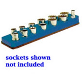 Mechanics Time Saver 711 3/8 in. Drive Magnetic Blue Socket Holder   5.5-22mm