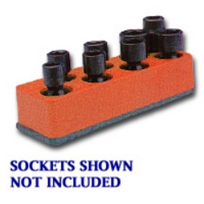 Mechanics Time Saver 881 3/8 in. Drive Universal Red 8 Hole Impact Socket Holder