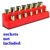 Mechanics Time Saver 1487 3/8 in. Drive 14 Hole Rocket Red Impact Socket Holder