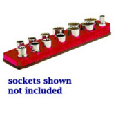 Mechanics Time Saver 713 3/8 in. Drive Magnetic Rocket Red Socket Holder   5.5-22mm
