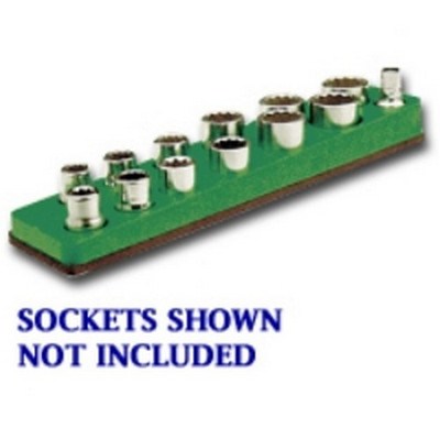 Mechanics Time Saver 719 3/8 in. Drive Magnetic Dark Green Socket Holder   5.5-22mm