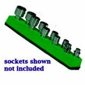 Mechanics Time Saver 485 1/4 in. Drive Universal Magnetic Green Socket Holder   5-14mm