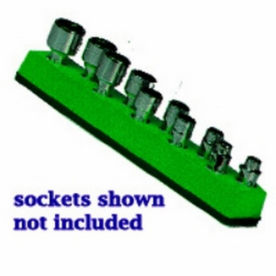 Mechanics Time Saver 485 1/4 in. Drive Universal Magnetic Green Socket Holder   5-14mm