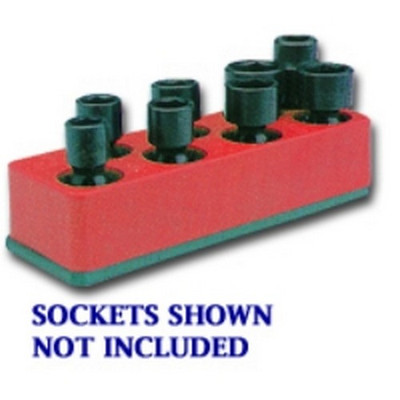 Mechanics Time Saver 887 3/8 in. Drive Universal Rocket Red 8 Hole Impact Socket Holder
