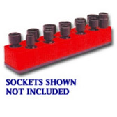 Mechanics Time Saver 981 3/8 in. Drive Universal Red 11 Hole Impact Socket Holder 9-19mm