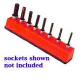 Mechanics Time Saver 387 3/8 in. Drive Universal Magnetic Rocket Red Socket Holder 10-19mm