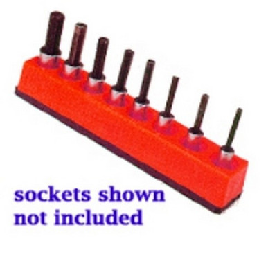 Mechanics Time Saver 387 3/8 in. Drive Universal Magnetic Rocket Red Socket Holder 10-19mm