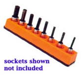 Mechanics Time Saver 384 3/8 in. Drive Universal Magnetic Solar Orange Socket Holder 10-19mm