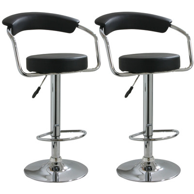 AmeriHome BS1060BSET 2 Piece Adjustable Height Bar Stool Set