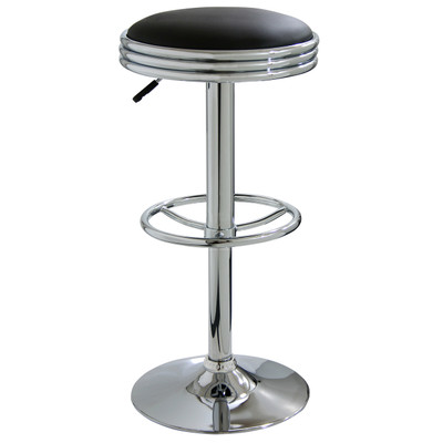AmeriHome BS1208 Soda Fountain Style Bar Stool - Black