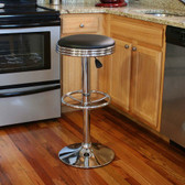 AmeriHome BS1208 Soda Fountain Style Bar Stool - Black