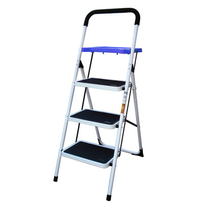 AmeriHome STL3TBX Three Step Utility Stool With Utility Tray
