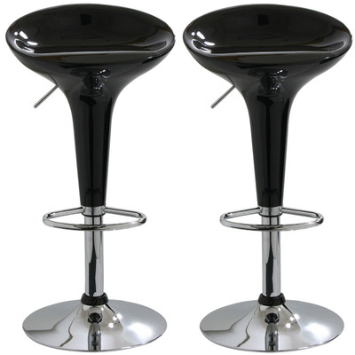 AmeriHome BS103BLKSET 2 Piece Bar Stool Set - Black