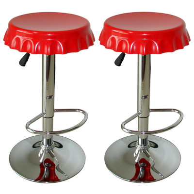 AmeriHome BS107SET 2 Piece Soda Cap Bar Stool Set