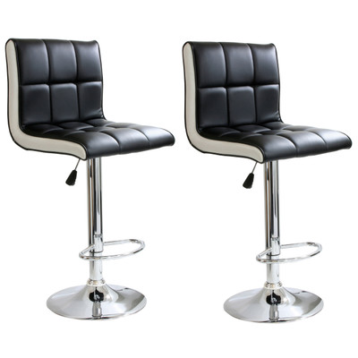 AmeriHome BS2318SET 2 Piece 2 Tone Padded Bar Stool Set