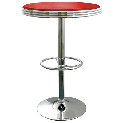 AmeriHome SFTABLER Soda Fountain Style Bar Table - Red