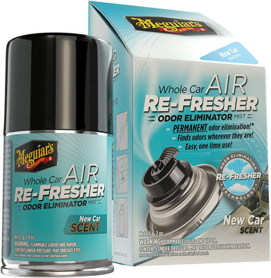 Meguiars G16402 Whole Car Air Refresher Odor Eliminator, New Car Scent 2 oz. Aerosol