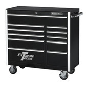 "Extreme Tools EX4111RCBK 41"" 11 Drawer Professional Roller Cabinet - Black"
