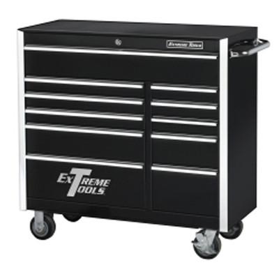 "Extreme Tools EX4111RCBK 41"" 11 Drawer Professional Roller Cabinet - Black"