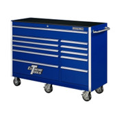 "Extreme Tools EX5611RCBL 56"" 11 Drawer Professional Roller Cabinet - Blue"