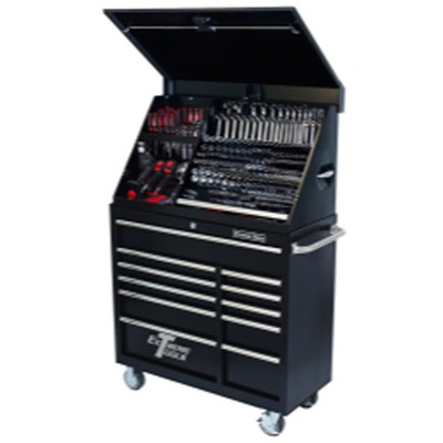 """Extreme Tools PWSRC4118TXBK 41"""" Extreme Portable Workstation/Roller Cabinet Combo, Black"""
